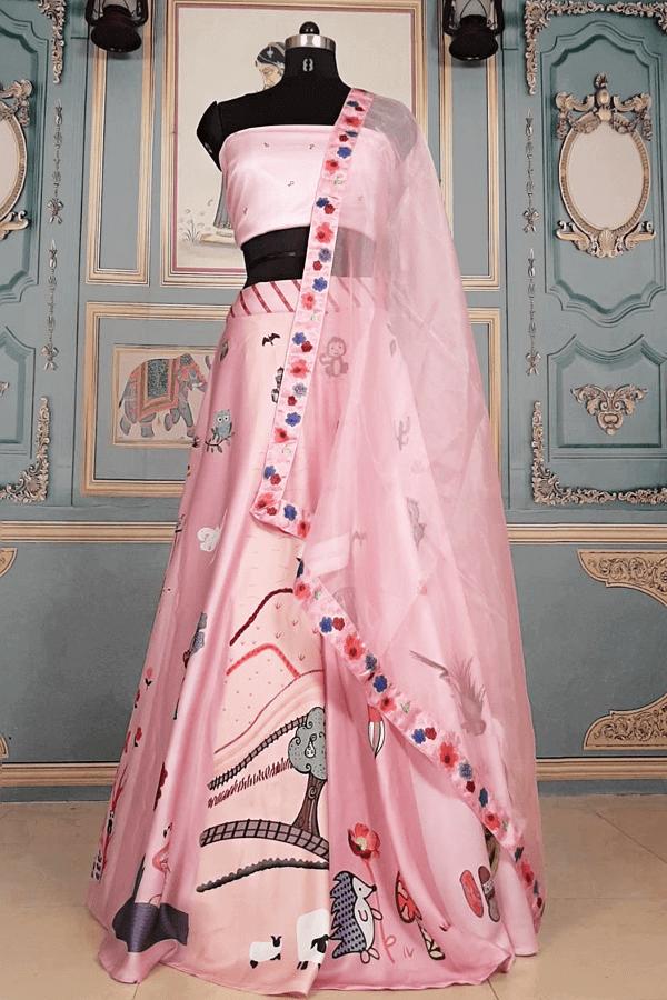 Alia bhatt Style Pink Top Lehenga 2021