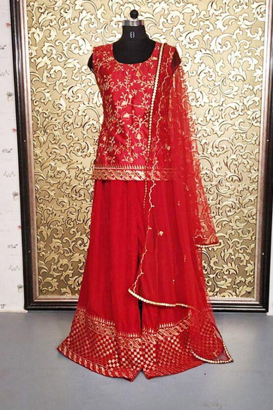 Alia bhatt in traditional dress Red 2021 Sharara