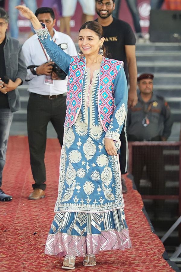 Alia bhatt kalank dress Blue 2021 Plazzo Suit