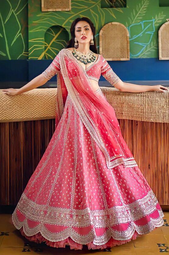 Anushree reddy pink Lehenga Designer Online 2021