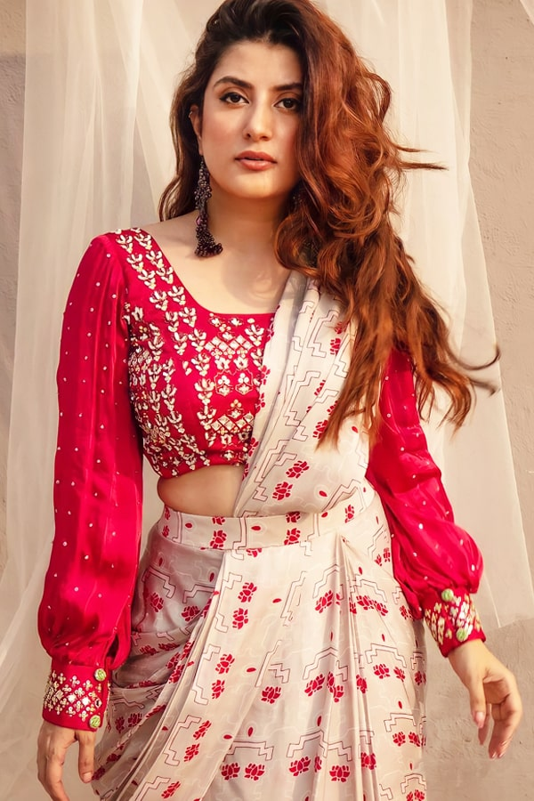 Designer stylish readymade saree 2021