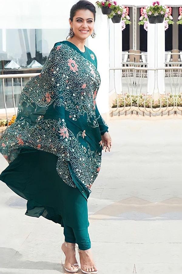 Dilwale kajol dress teal Buy online 2021 (Gown)
