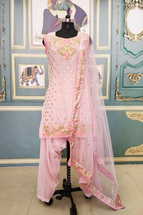 Disha patani pink Punjabi suit Dress 2021