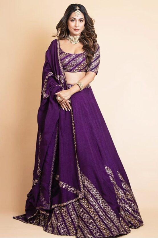 Hina khan lehenga Heavy Bridal Embroidered 2021