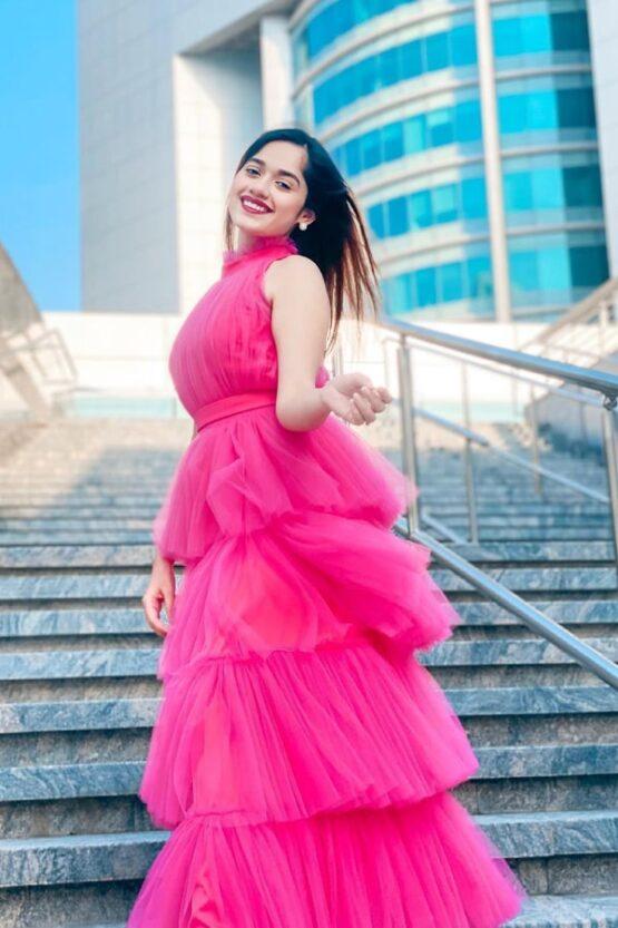 Jannat zubair dress Pink Western Gown 2021