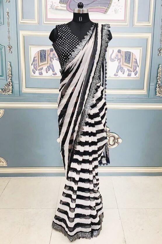 Kajol devgan saree Black & white Kapil Sharma show