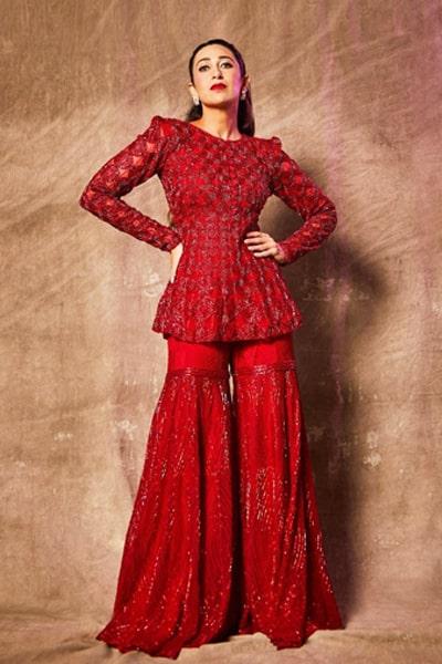 Karishma kapoor red dress in indian idol 12
