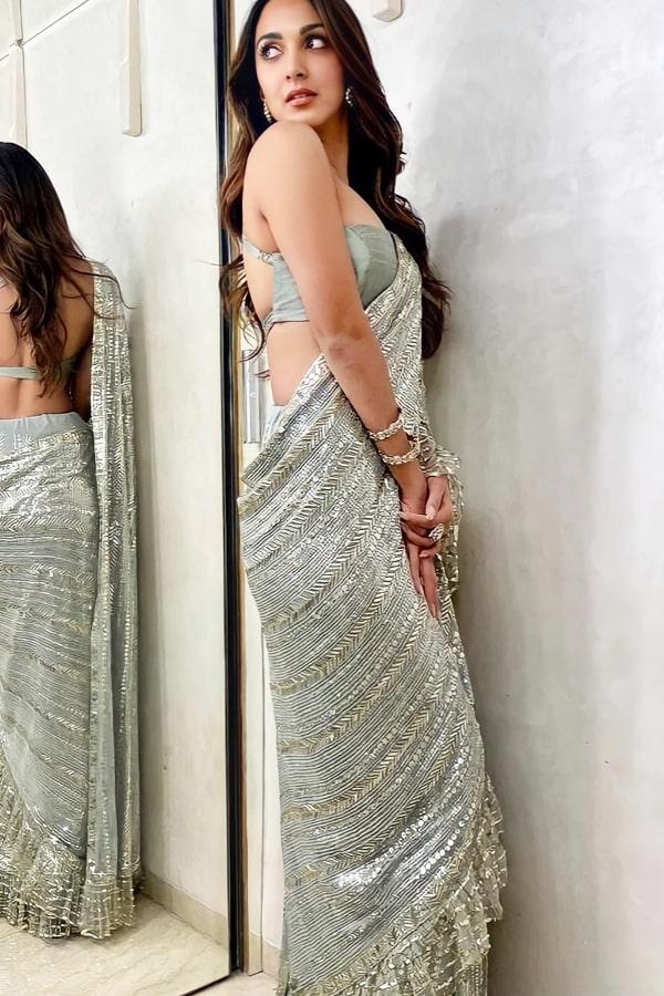 Kiara advani sequence saree buy online 2021
