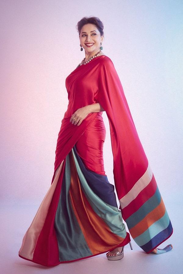 Madhuri dixit Red saree dance deewane 3