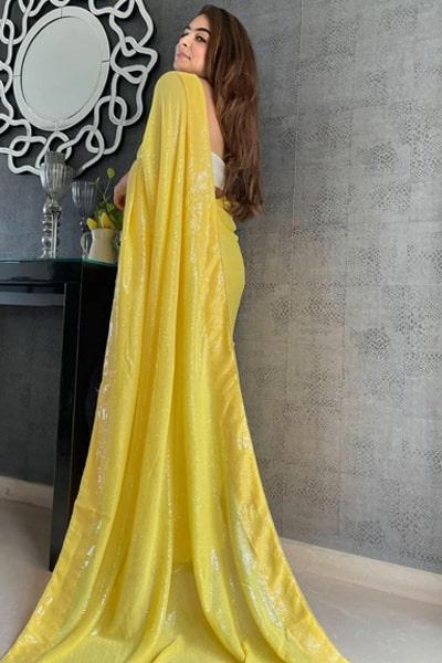 Modern farewell sarees for Teenage girls