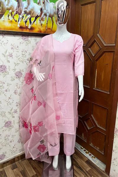 Modern simple plazo suit design Pink 2021