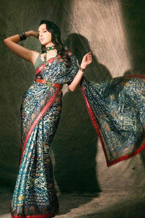 Nora fatehi in saree in india best dancer 2021