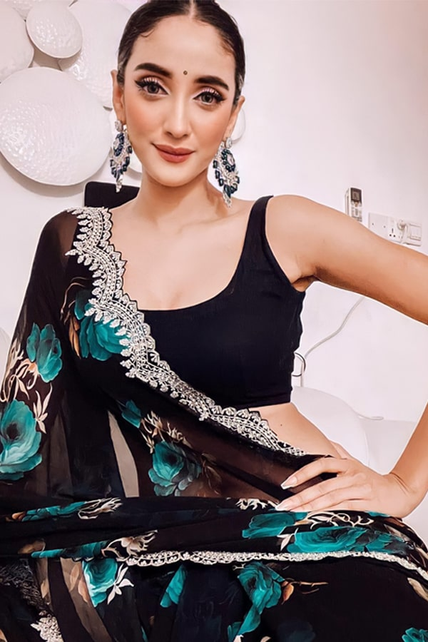 Organza silk sarees with embroidery 2021