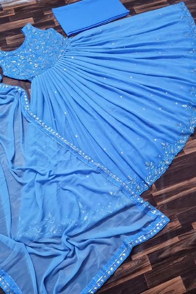 Party wear gown dress design 2021 Blue