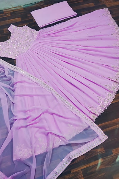 Party wear gown dress design 2021 purple.