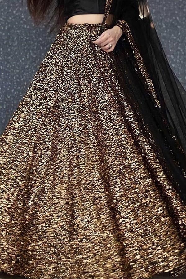 Party wear traditional crop top lehenga Golden 2021