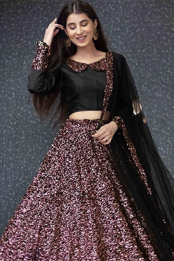 Party wear traditional crop top lehenga Pink 2021