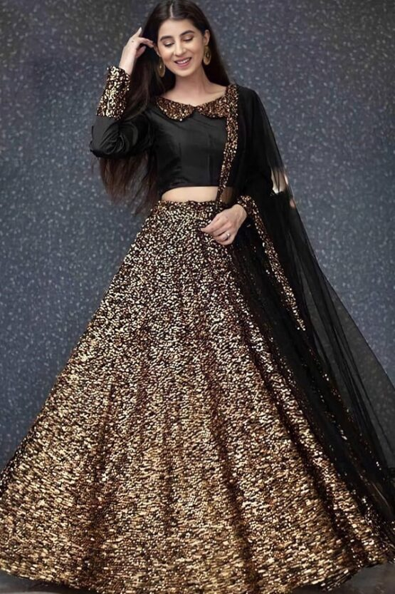 Party wear traditional crop top lehenga Yellow 2021
