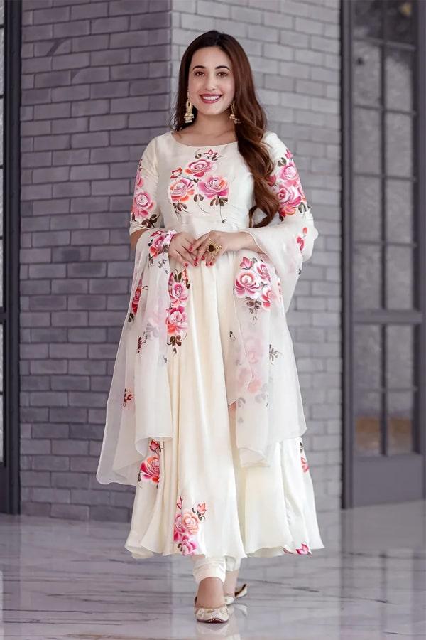 Raksha bandhan special dress for girls 2021 White
