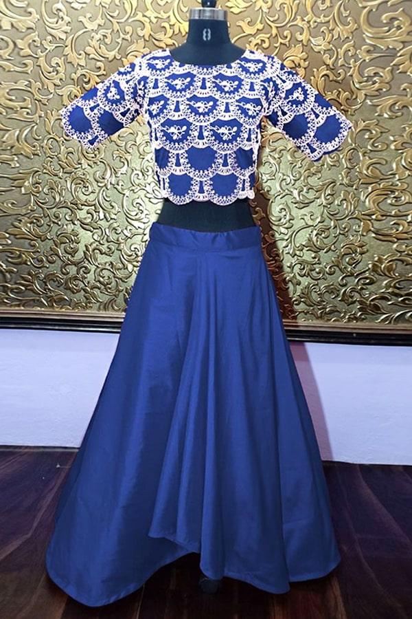 Shraddha kapoor blue lehenga 2021