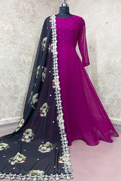 Simple gowns for indian wedding reception