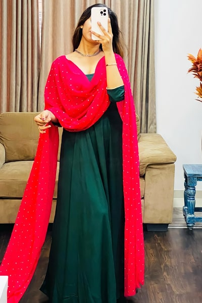Simple gowns for indian wedding reception 2021