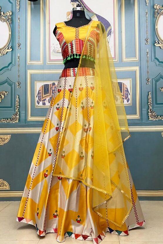 Stylish lehenga for haldi ceremony Yellow 2021