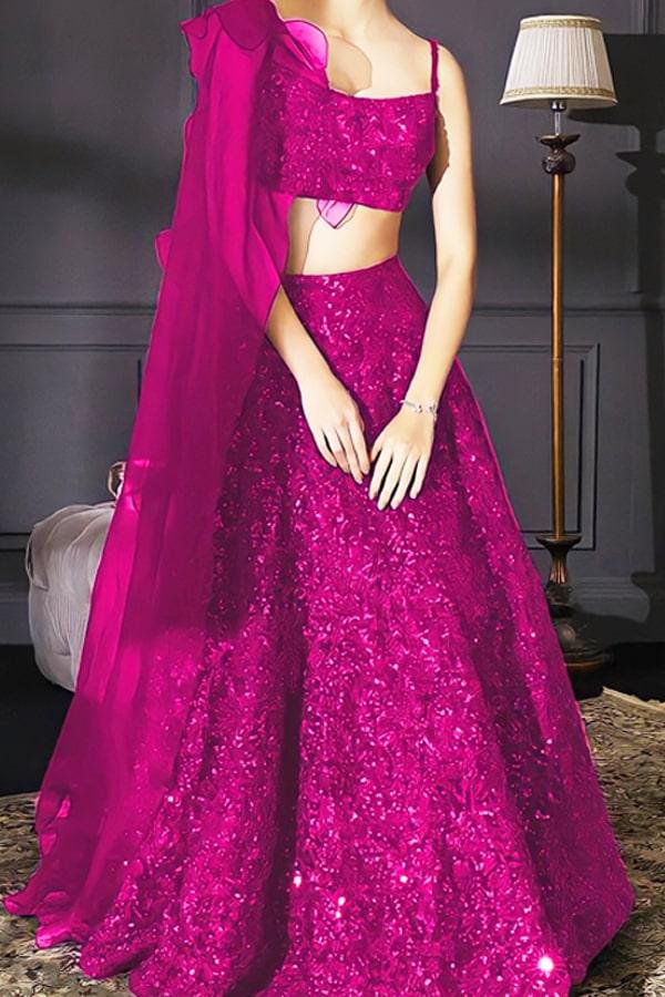 Stylish party wear lehenga for teenage girl 2021 Pink