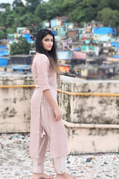 Stylish simple casual dresses Off white Latest