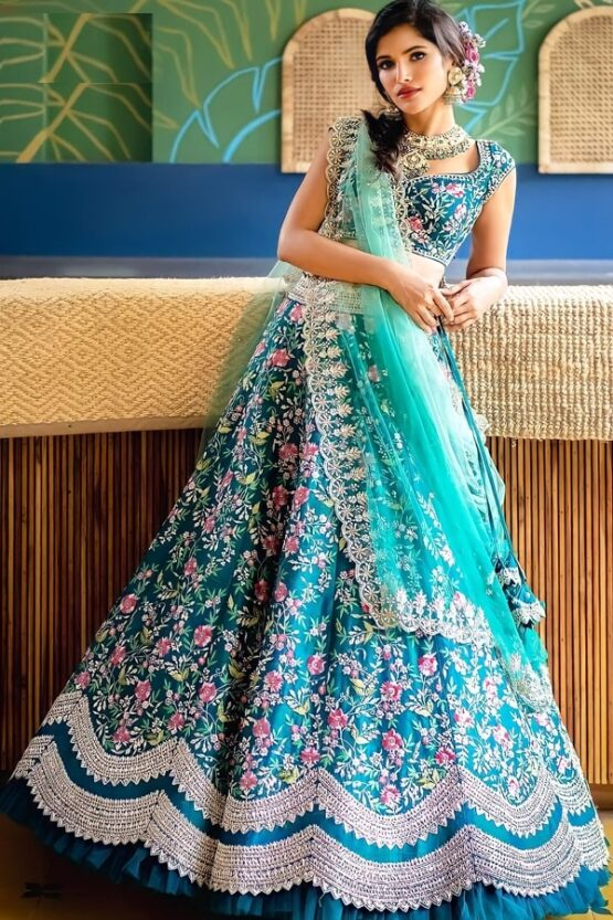 Unique lehenga for sisters wedding Blue 2021