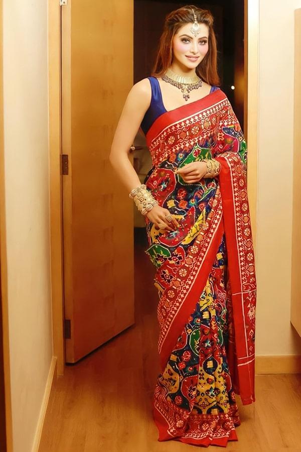 Urvashi rautela saree Multicolor Party wear 2021