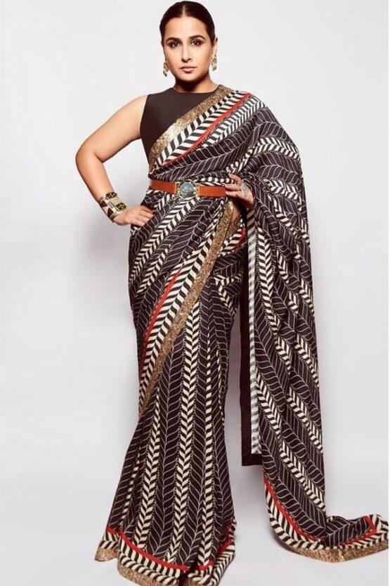 Vidya balan Brown Silk saree 2021 Latest