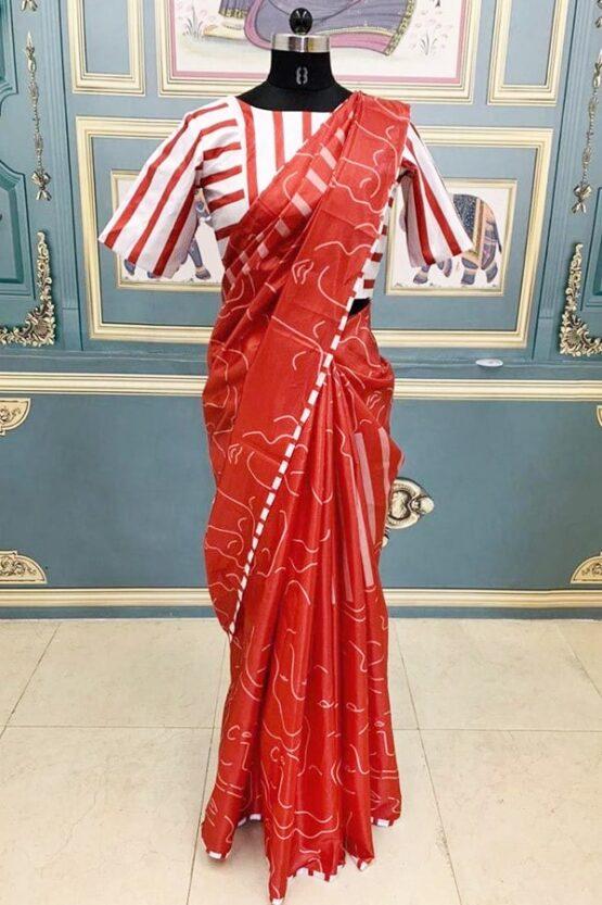 Vidya balan red Silk saree 2021 Latest