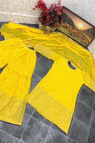 Yankita Kapoor Embroidery sharara suit 2021