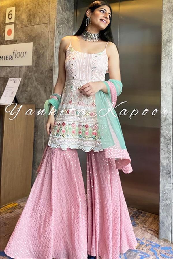 Yankita Kapoor Heavy Embroidery sharara suit 2021.