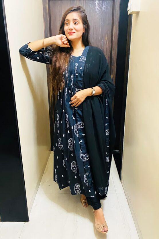 casual simple anarkali dress