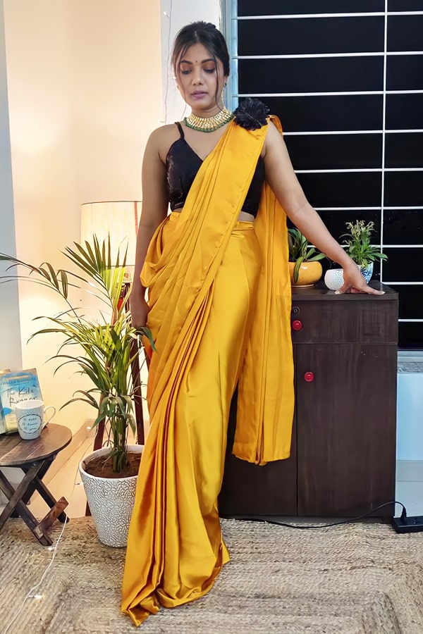 Designer stylish Readymade saree 2021 Simple