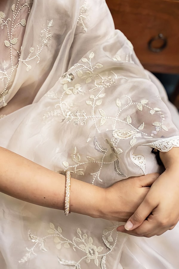 Indian saree for wedding guest uk latest.