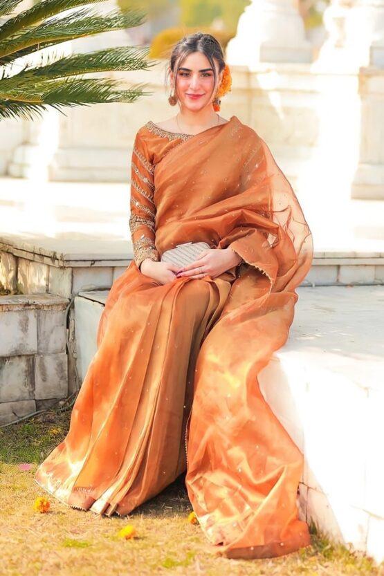 Indian wedding guest look in saree 2021