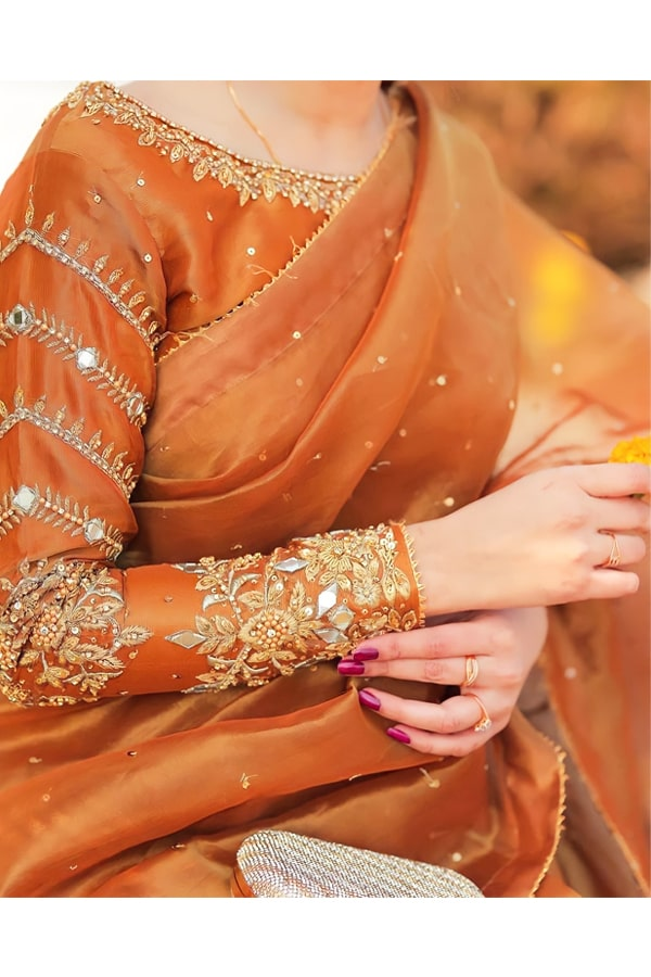 Indian wedding guest look in saree 2021.