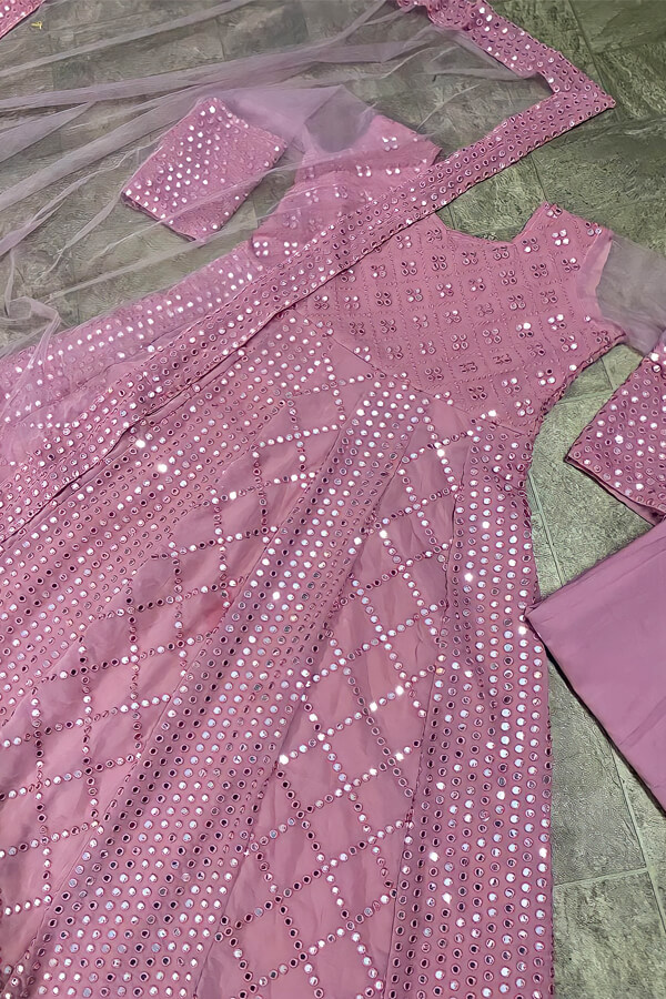 Indian wedding outfit for female guest 2021 pink