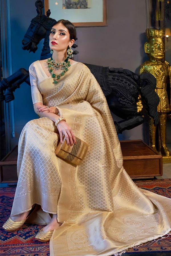 Kanjeevaram south Indian bridal saree