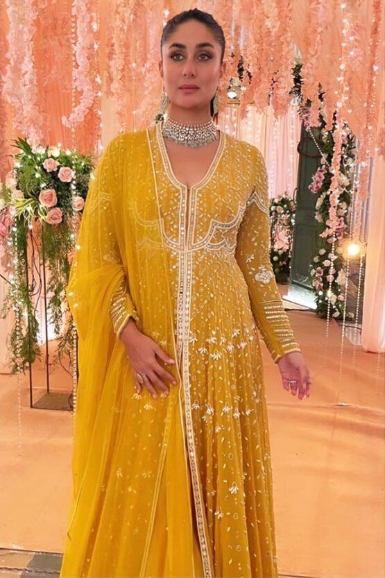 Kareena kapoor khan yellow Anarkali dress online