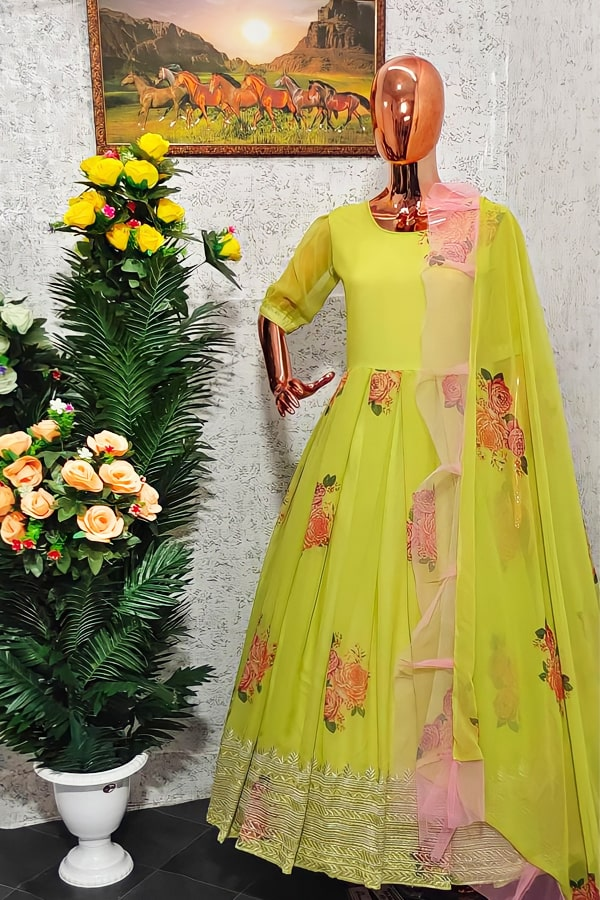 Latest Party wear Long gown for girls images