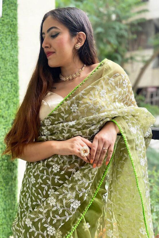 Latest designer party wear sarees