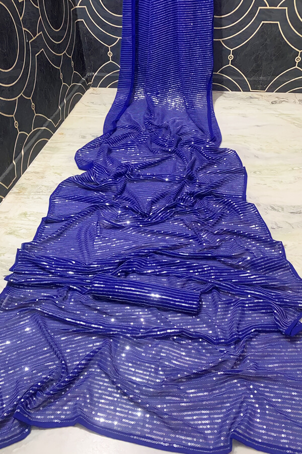 Latest sequence saree design 2021 Wedding Party