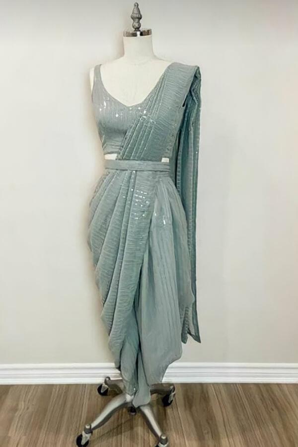 Latest sequence saree design 2021 Wedding pastel