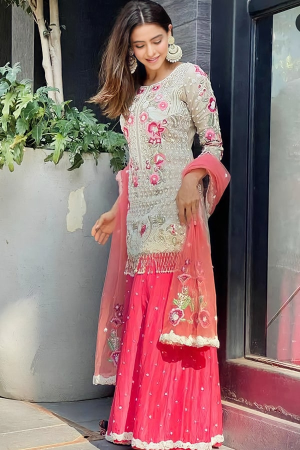 Latest sharara suit design 2021 Party wear