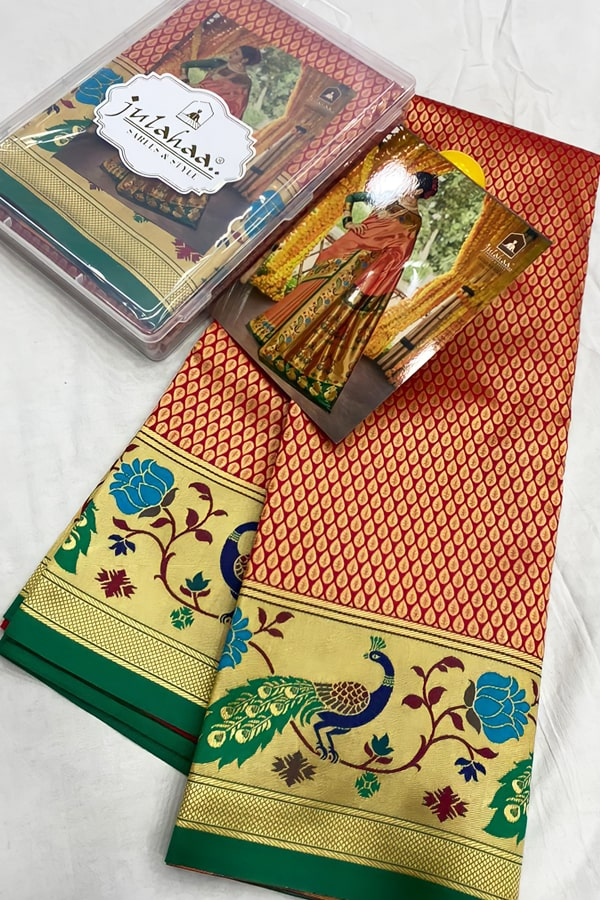 Marathi wedding paithani saree (2)