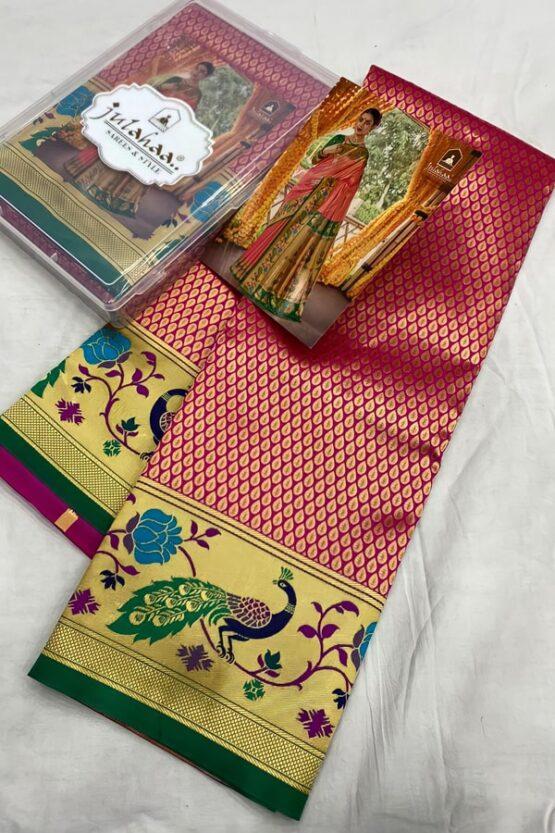 Marathi wedding paithani saree